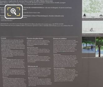 Tourist Info Board For L'Ami De Personne Statue And Tuileries