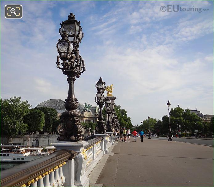 Pont Alexandre III Art Nouveau Lamp Posts