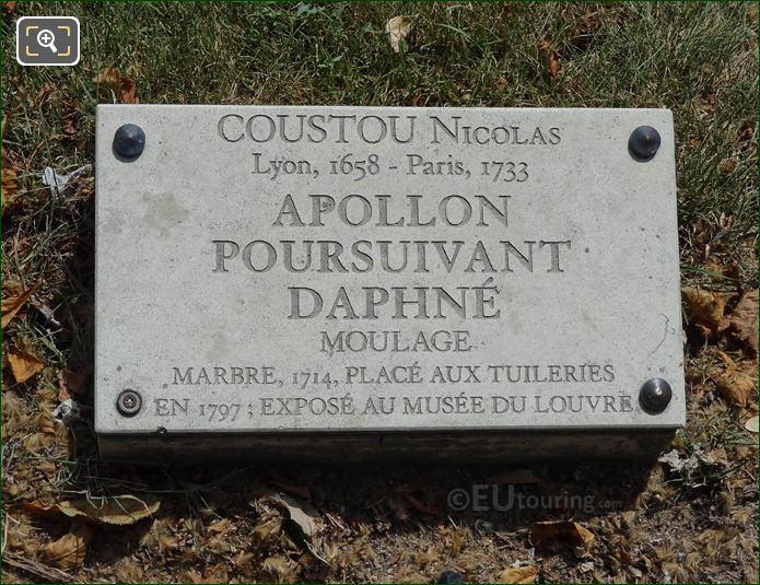 Tourist Information plaque Apollo Statue