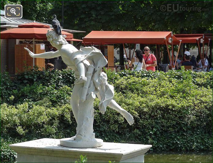 Back Of Apollo Statue Jardin Des Tuileries