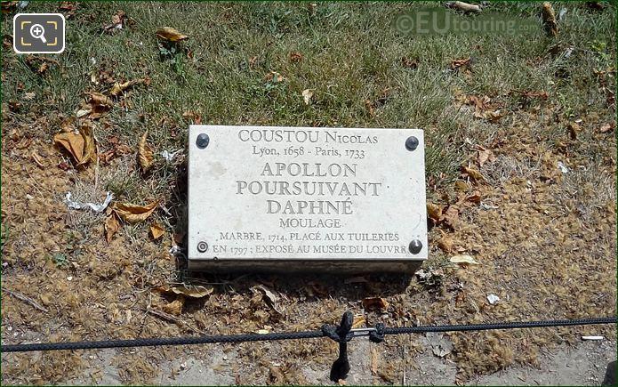 Tourist Information Plaque Daphne Statue