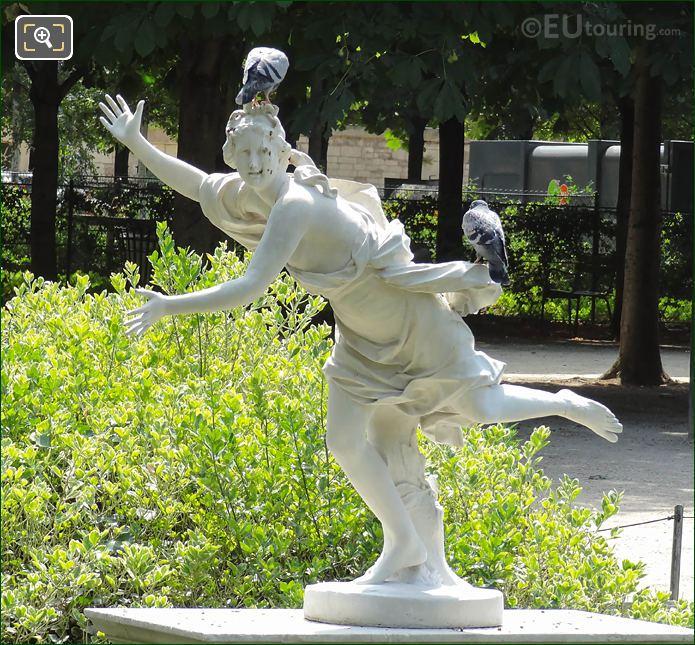SW View Of Daphne Statue In Jardin Des Tuileries