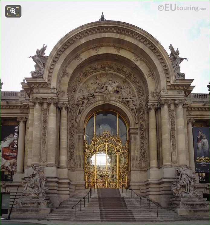 Petit Palais Entrance With La Ville De Paris Entouree Des Muses Sculpture