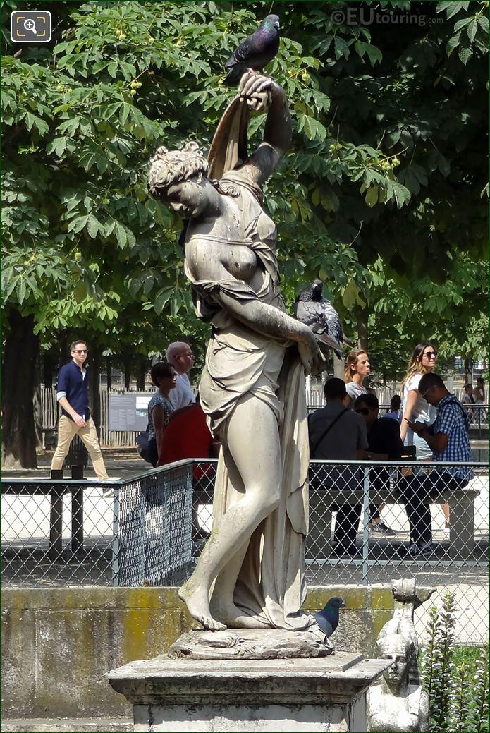 Jardin Des Tuileries Venus Callipyge Statue LHS