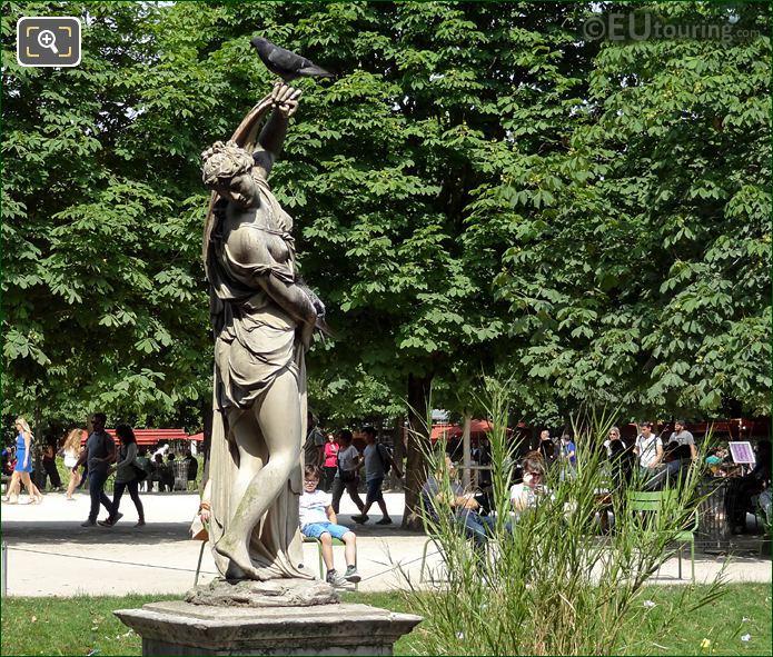 Statue Of Venus Callipyge By F Barois In Jardin Des Tuileries