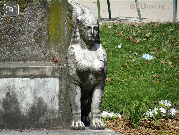 Exedra Side Statue South Side Jardin Des Tuileries