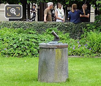 Palais Royal Garden Area With Le Petit Canon