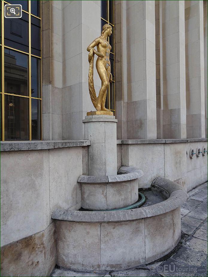 Flore Statue Pedestal Palais Chaillot