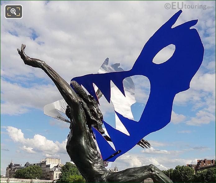 Blue Wolfs Head Dans La Gueule Du Loup Sculpture