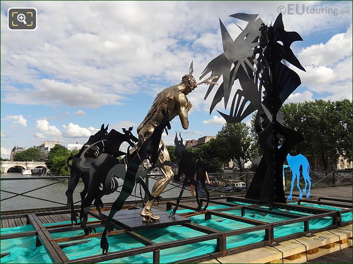RHS Of Acteon Sculpture Pont Des Arts