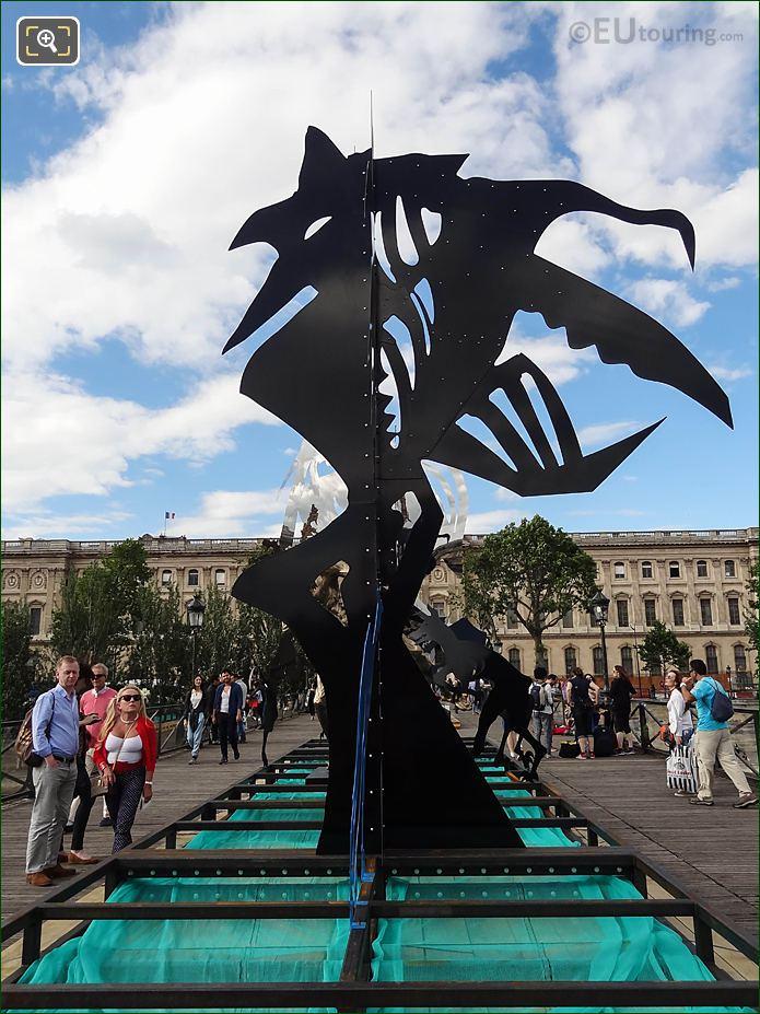Black Arbre VI Sculpture Enchanted Footbridge Exhibition
