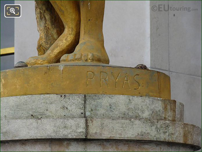 Pryas Name Inscription Le Matin Statue
