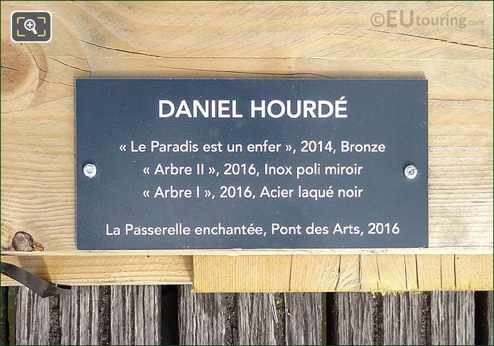 Info Plaque Le Paradis Est Un Enfer Sculpture