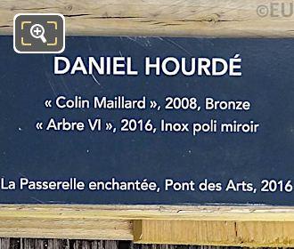 Information Plaque For Colin Maillard Sculpture