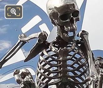 Skeleton On Colin Maillard Sculpture Pont Des Arts