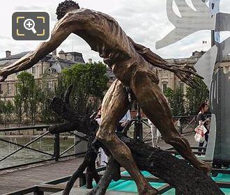 Le Paradis Est Un Enfer Sculpture Pont Des Arts Paris