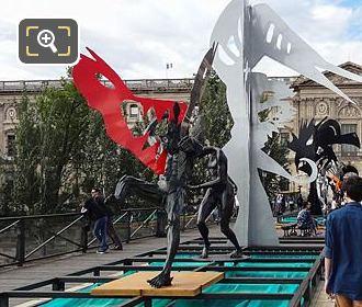 Enchanted Footbridge Exhibition Pont Des Arts Paris