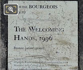 Tourist Info Plaque For The Welcoming Hands