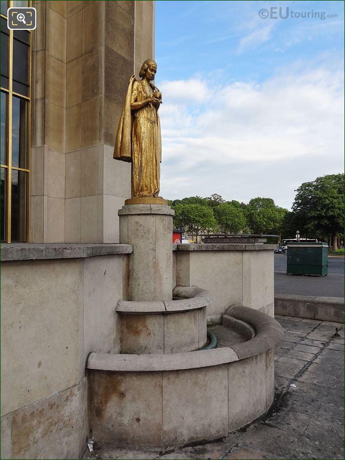 Statue Les Oiseaux On Pedestal RHS