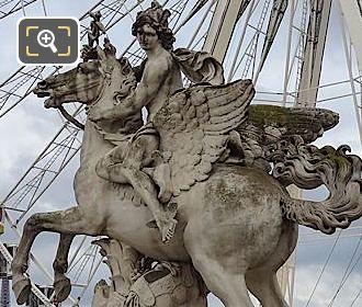 Marble Statue Of Mercury Mounted On Pegasus