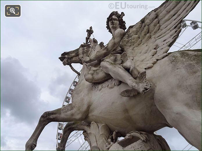 Mercure Monte Sur Pegase Statue By Antoine Coysevox