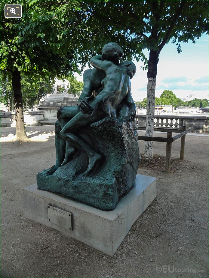 Front Of The Kiss Statue In Jardin Des Tuileries