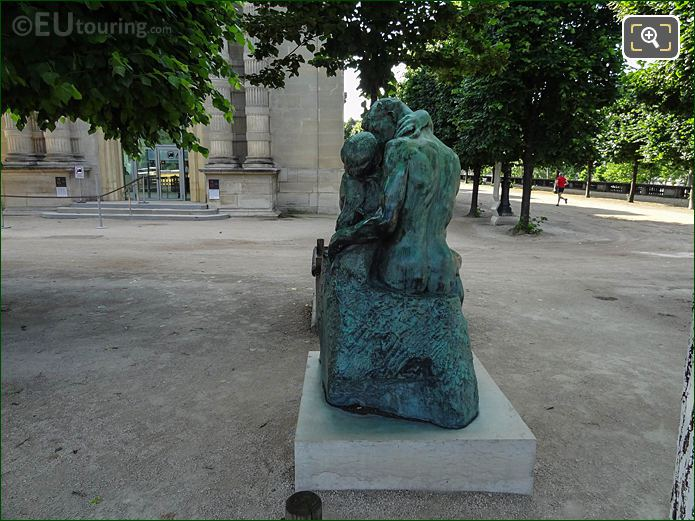 Back Of The Kiss Statue In Jardin Tuileries