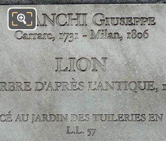 Tourist Info Plaque For SW Lion Statue