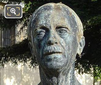 Bronze Bust Paul Valery Trocadero Gardens