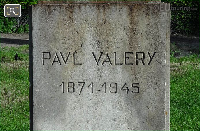 Paul Valery 1871-1945 Inscription On Pedestal