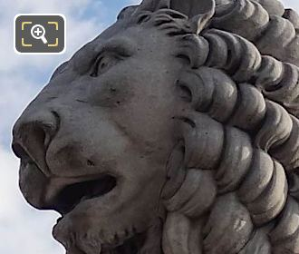 South Side Of Lion Statue By Giuseppe Franchi
