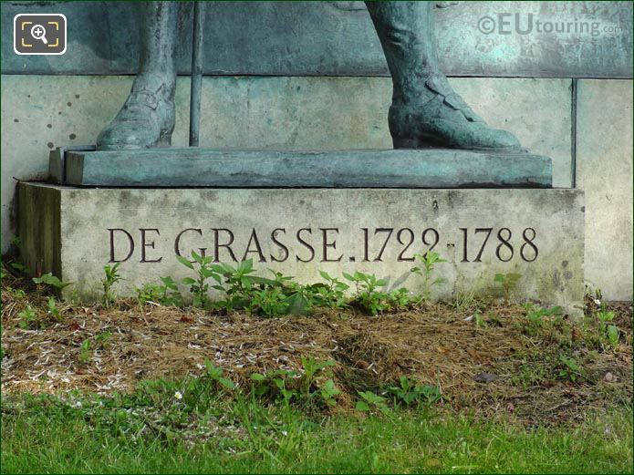 De Grasse Inscription Statue Base