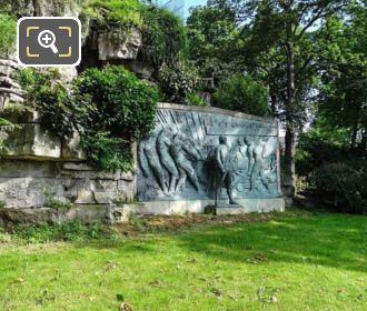 Bronze Statue Relief Monument A La Amiral De Grasse