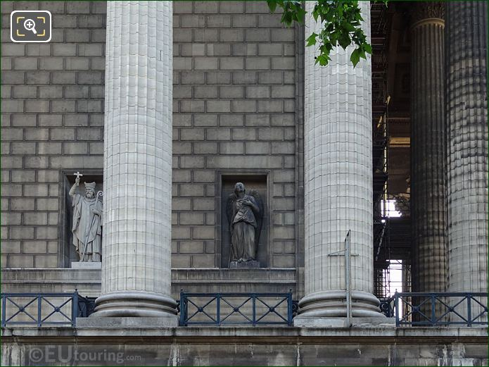 West Facade Eglise Madeleine With Saint Michel Statue