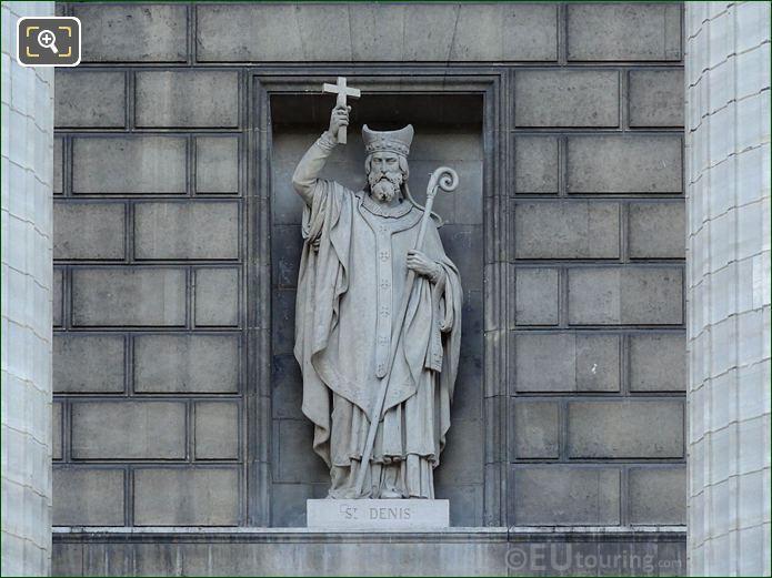 Saint Denis Statue On Eglise Madeleine
