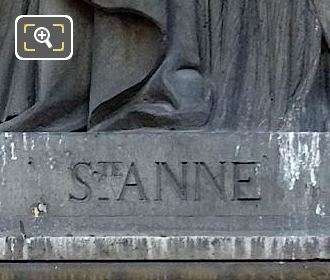 Sainte Anne Inscription On Pedestal