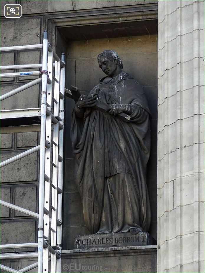 Saint Charles De Borromee Statue By Francois Jouffroy