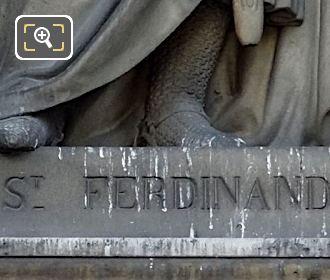 Saint Ferdinand Inscription Statue Base