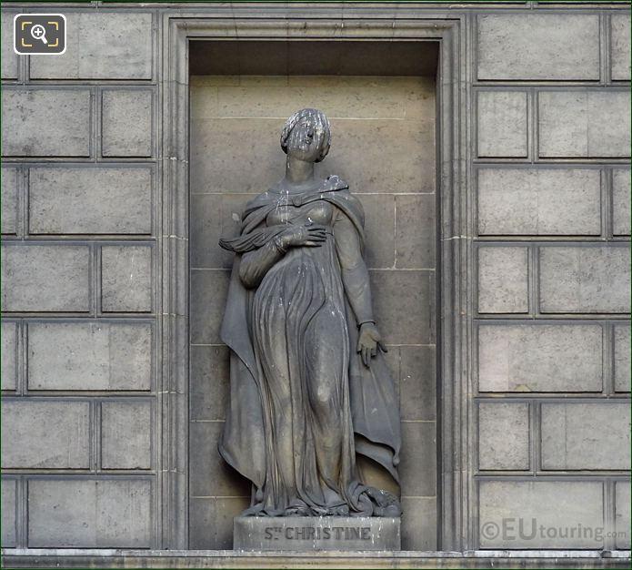Saint Christine Statue Eglise Madeleine