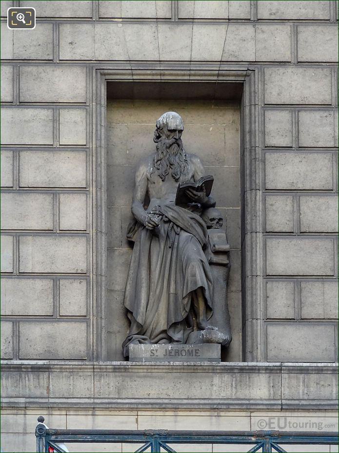 Saint Jerome Statue Eglise Madeleine Paris