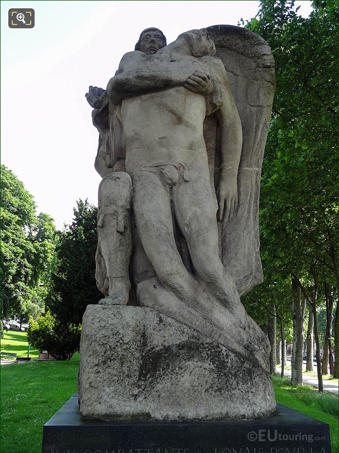 Front Of Monument To Polish Fighters