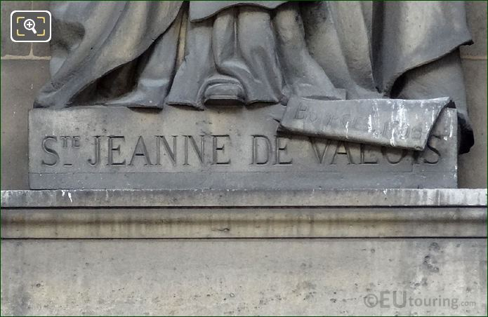 Saint Jeanne De Valois Inscription