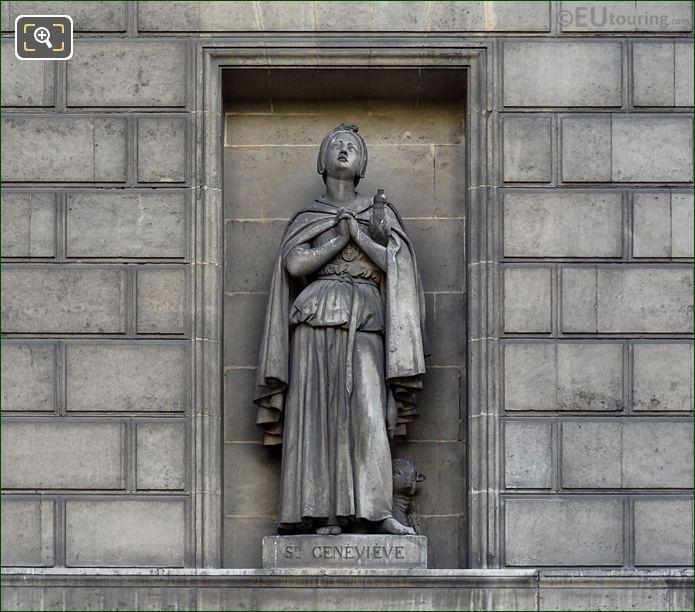 Saint Genevieve Statue Eglise Madeleine