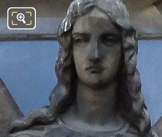 L'Ange Gardien Statue By Francisque Joseph Duret