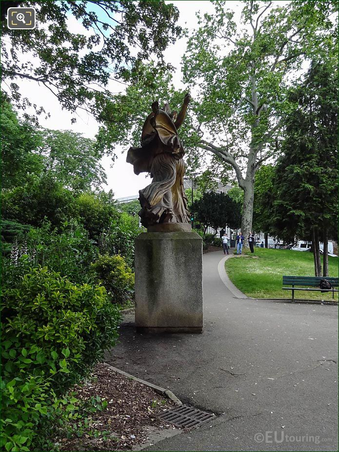 RHS La Danse Triomphale A Pallas Athene Statue
