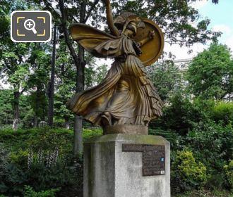 Front And RHS La Danse Triomphale A Pallas Athene Statue