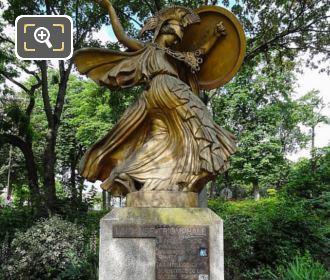 Front La Danse Triomphale A Pallas Athene Statue