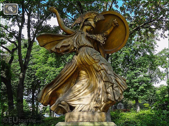 La Danse Triomphale A Pallas Athene Statue Paris