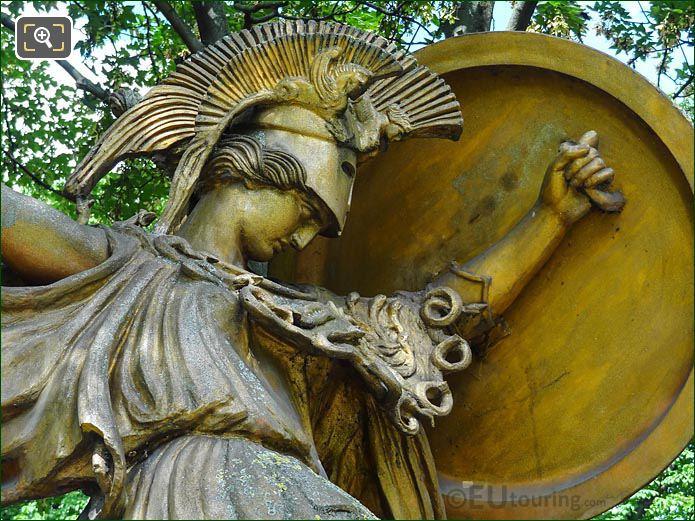 Head And Shield La Danse Triomphale A Pallas Athene Statue