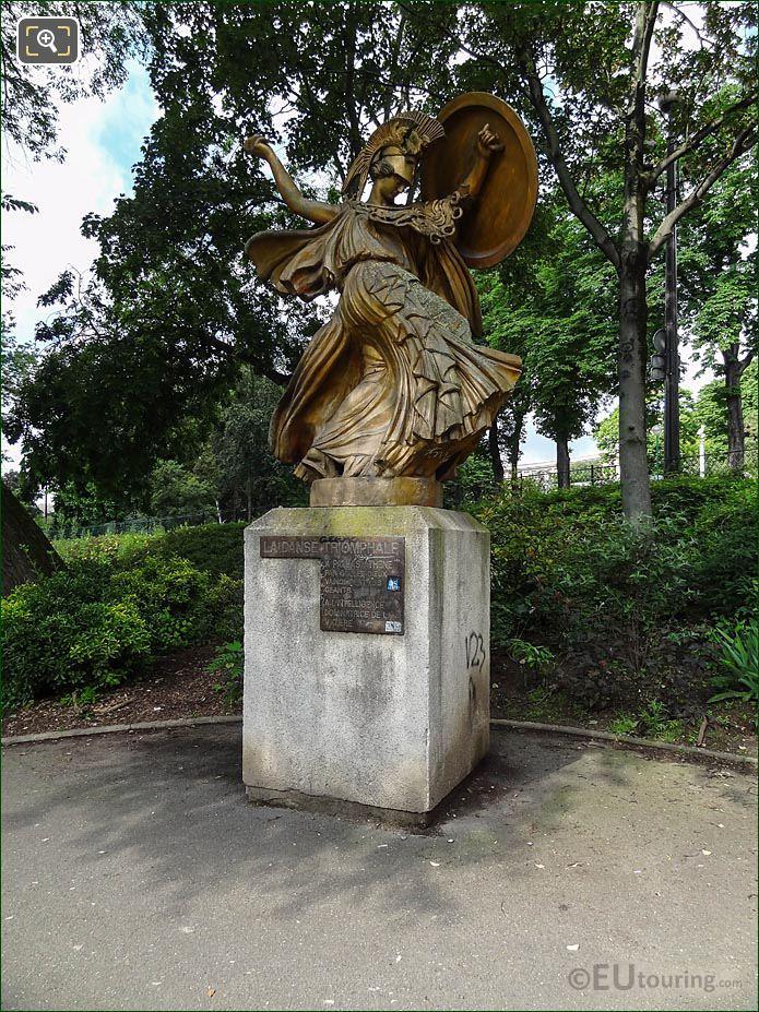 Front And LHS La Danse Triomphale A Pallas Athene Statue